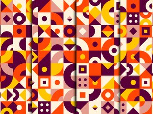 Geometric Vector Patterns 2