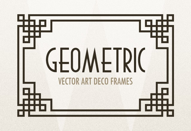 large geometric art deco frames preview1