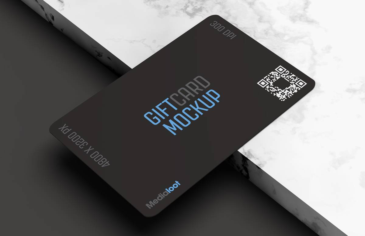 Gift Card Mockup Preview 1