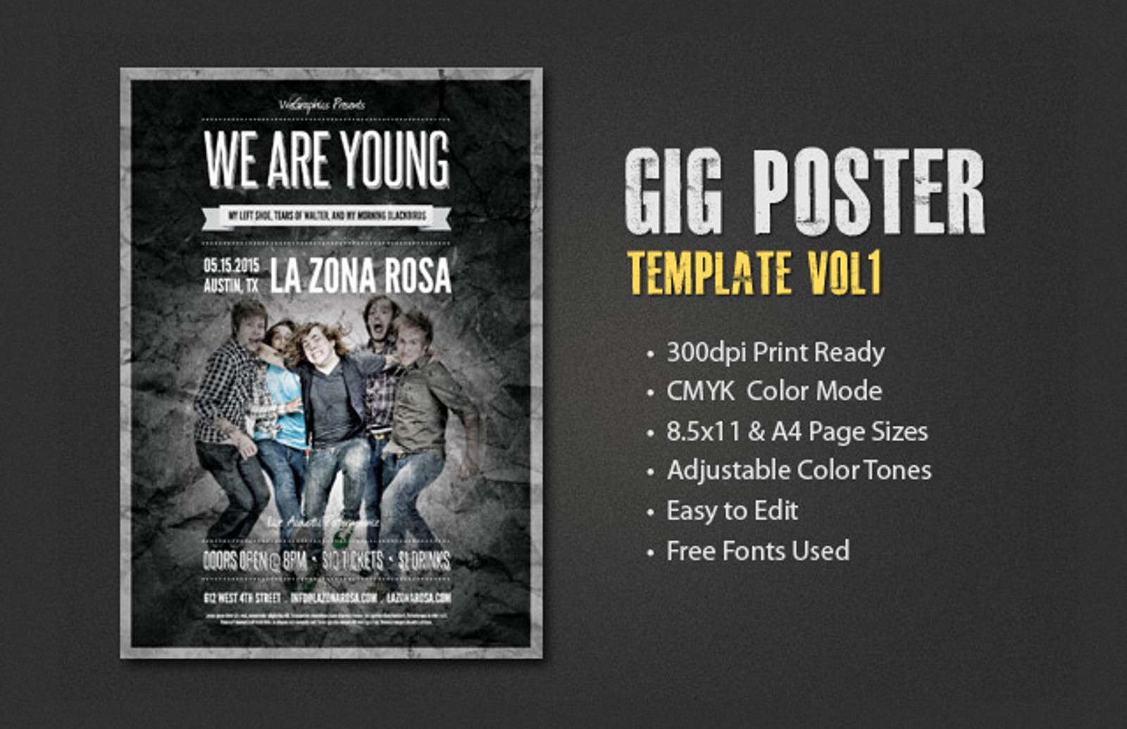gig poster template vol 1 medialoot