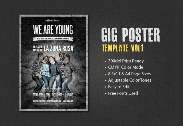 Gig Poster Template - Vol 1