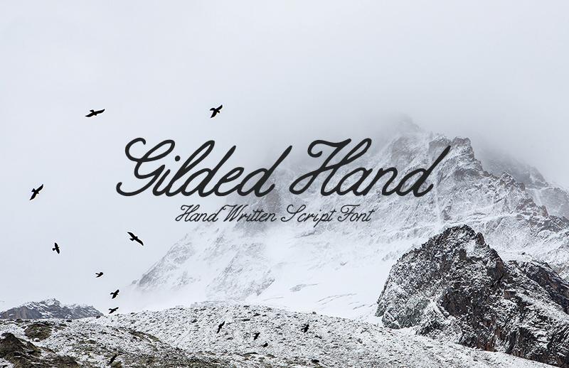 Gilded Hand - Handwritten Script Font