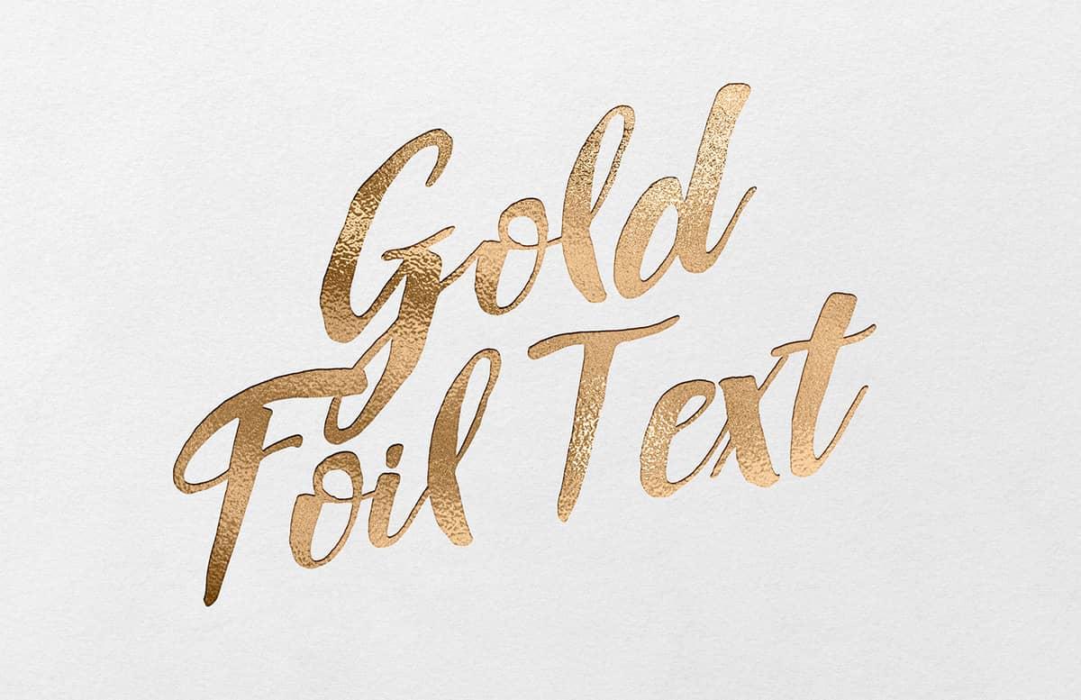 Gold Foil Font Text Effect Kit Preview 1