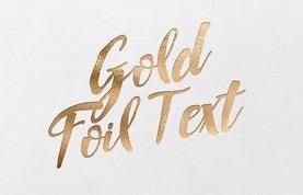 Gold Foil Font Text Effect Kit