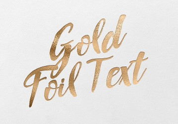 Gold Foil Font Text Effect Kit