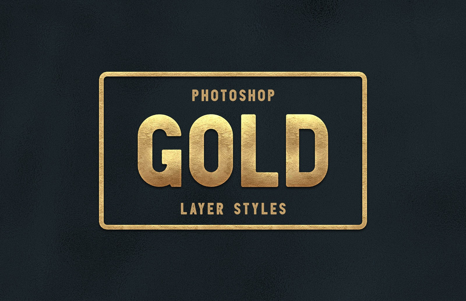 Gold Layer Styles for Photoshop