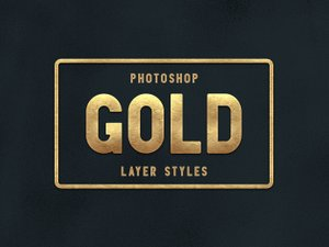 Gold Layer Styles for Photoshop 1