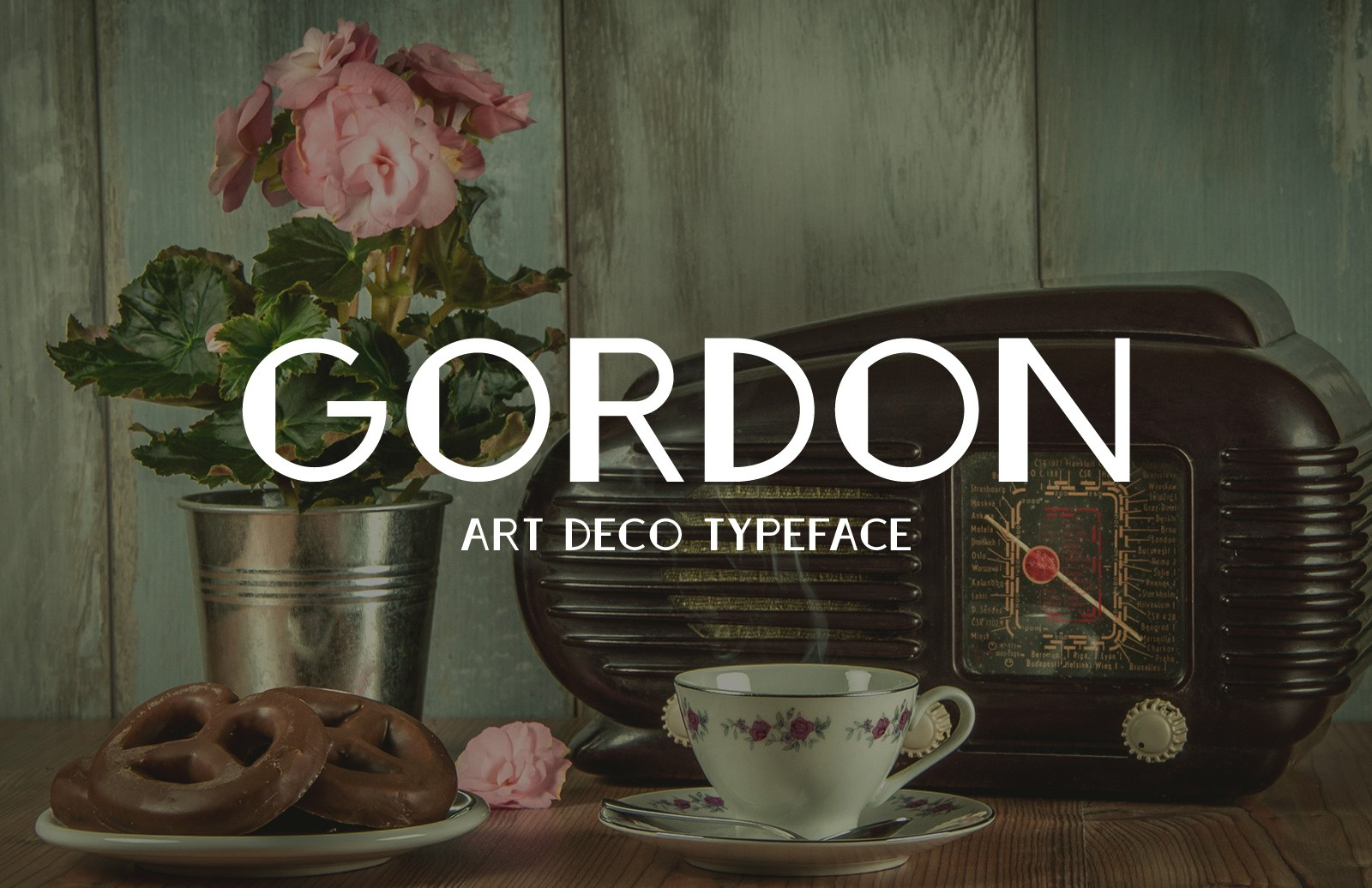 Gordon Art Deco Typeface Preview 1