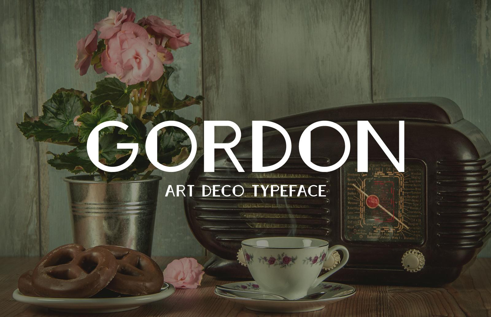 Gordon - Art Deco Typeface