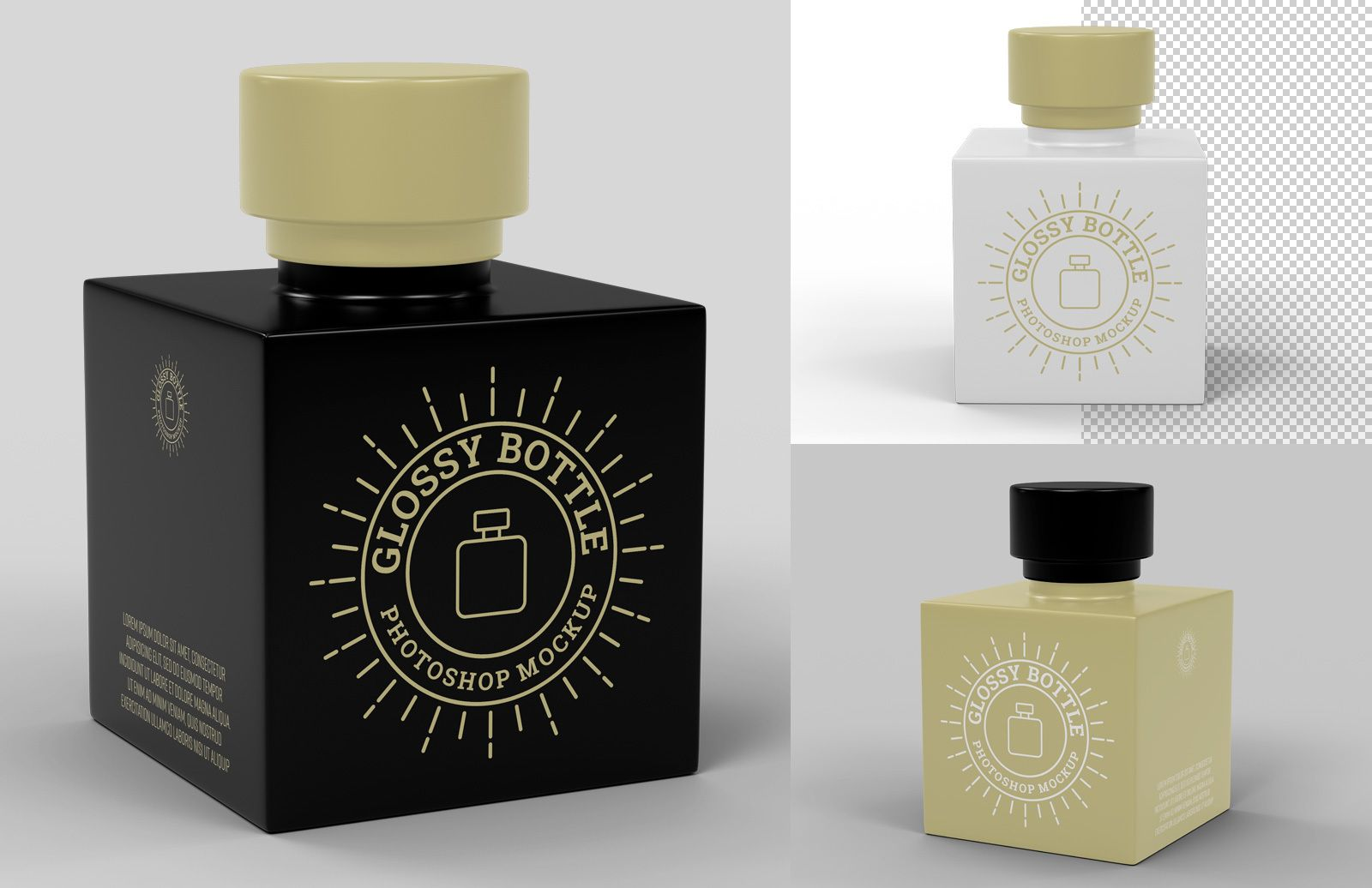 Glossy Bottle Mockup Preview 1