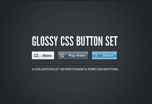Glossy CSS Button Set