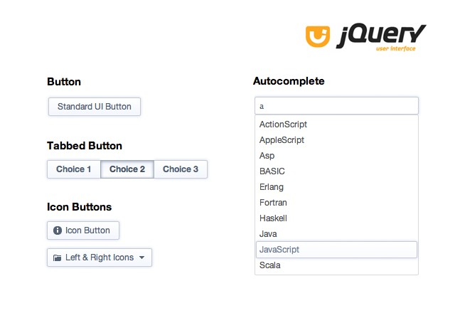 jQuery UI Theme: Glacier