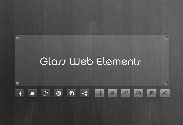 Glass Web Elements