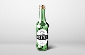 Free Glass Drinks Bottle Mockup