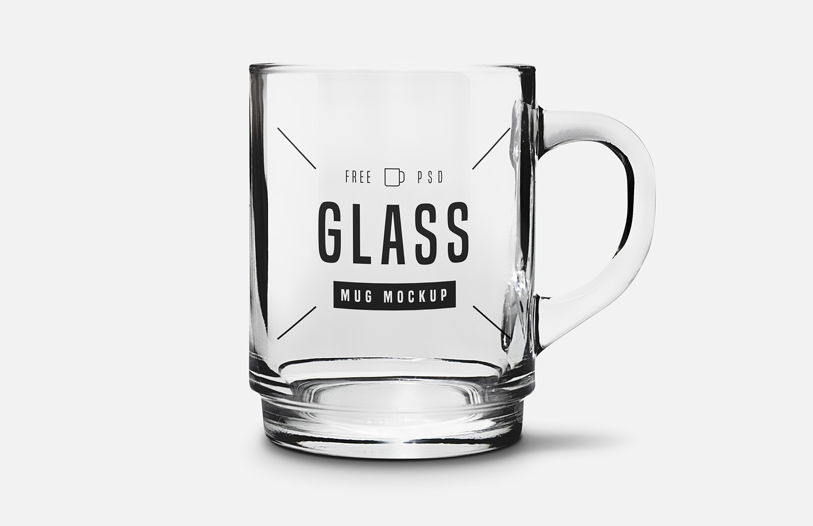 Free Glass Mug Mockup