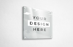Glass Panel Sign Mockup
