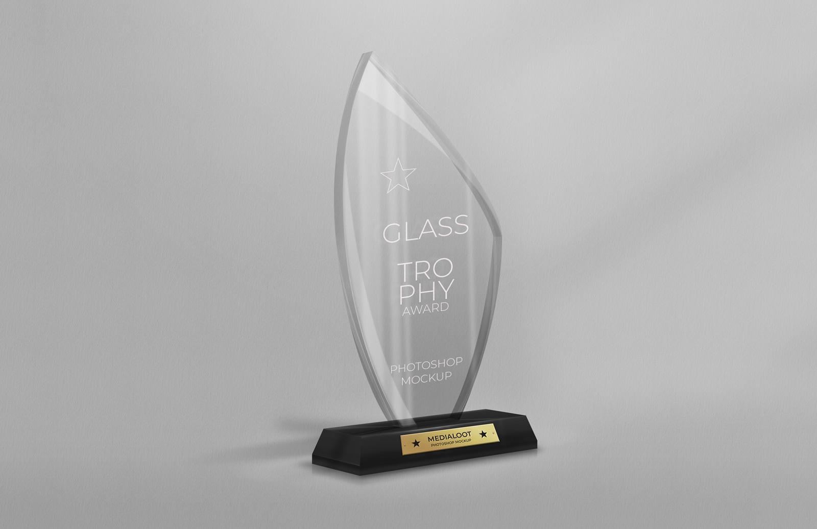 Glass Trophy Award Mockup