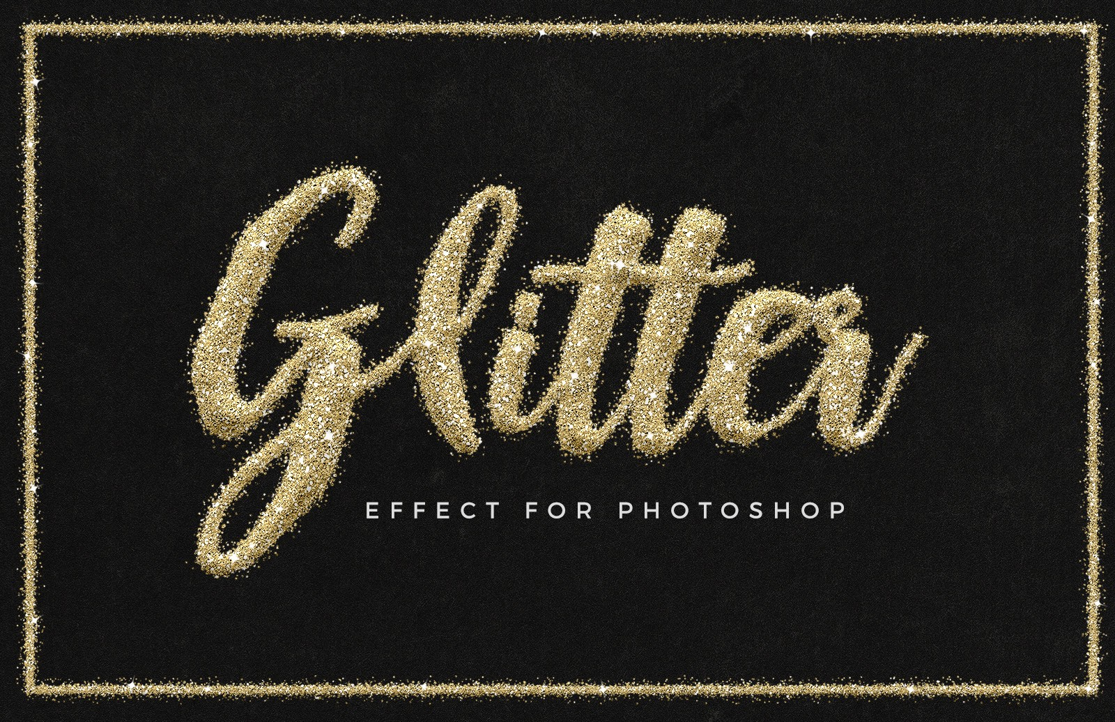 Glitter Text Effect for Photoshop 1