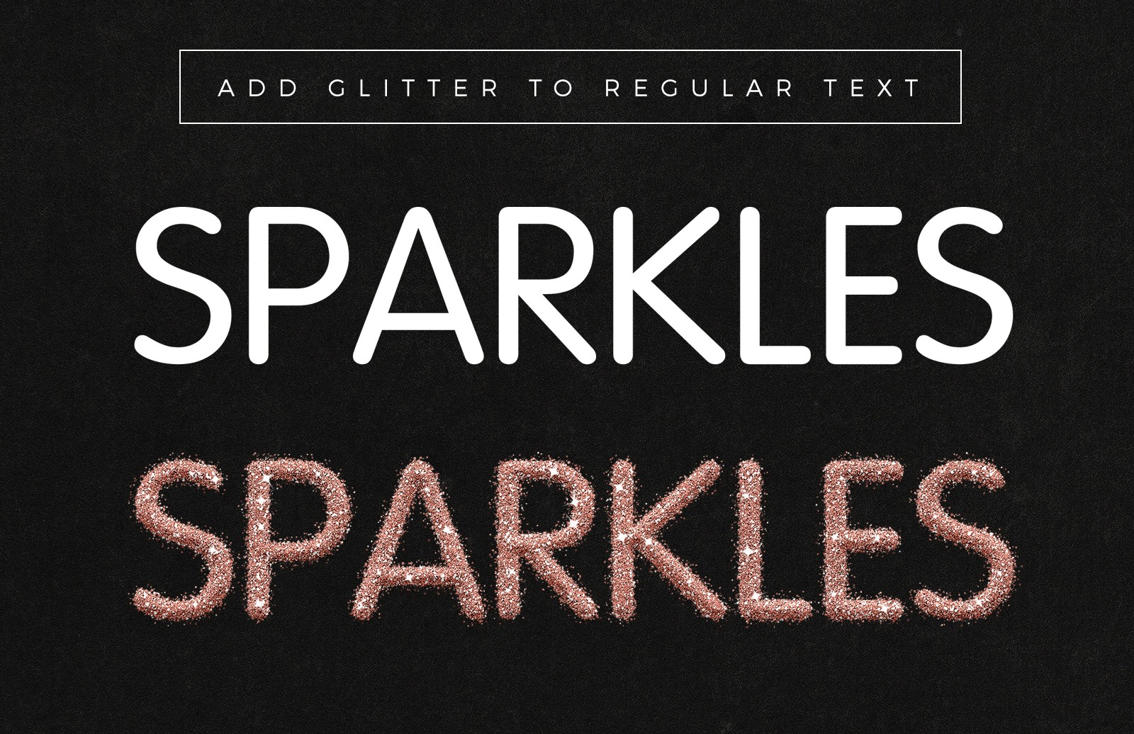 Glitter Text Effect for Photoshop 2