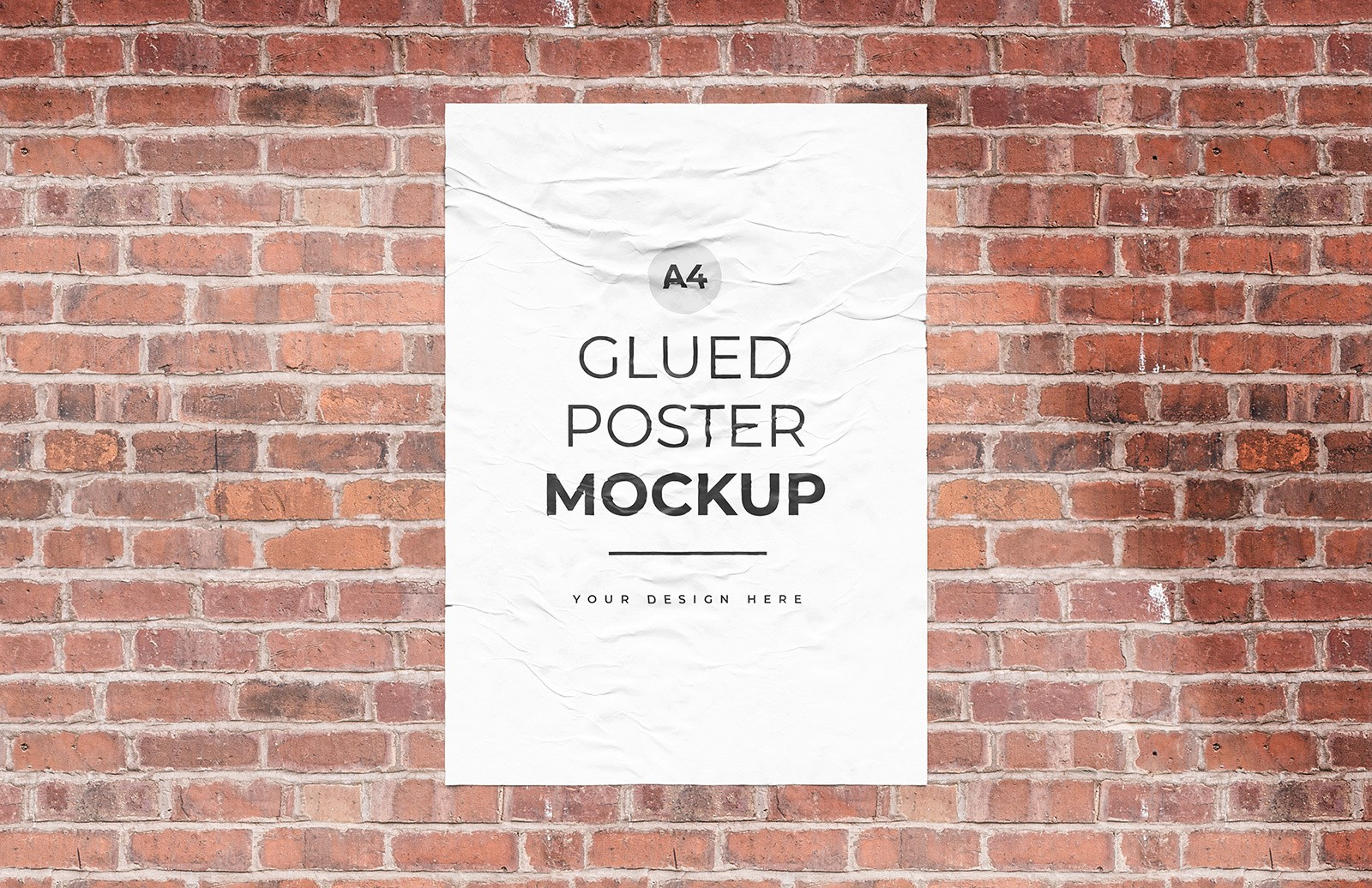 Glued Poster Mockup Preview 1
