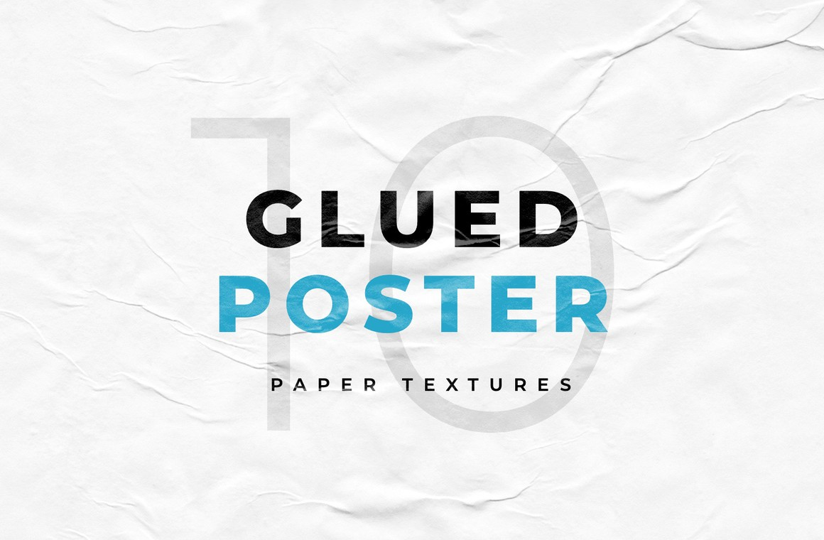 Glued Poster Paper Textures