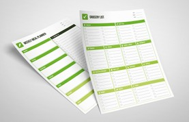 Grocery List & Meal Planner Template