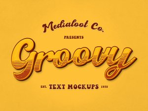 Groovy 70s Text Effect Mockups 1