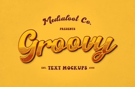 Groovy 70s Text Effect Mockups