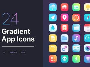 iOS 14 Gradient App Icons Set 1