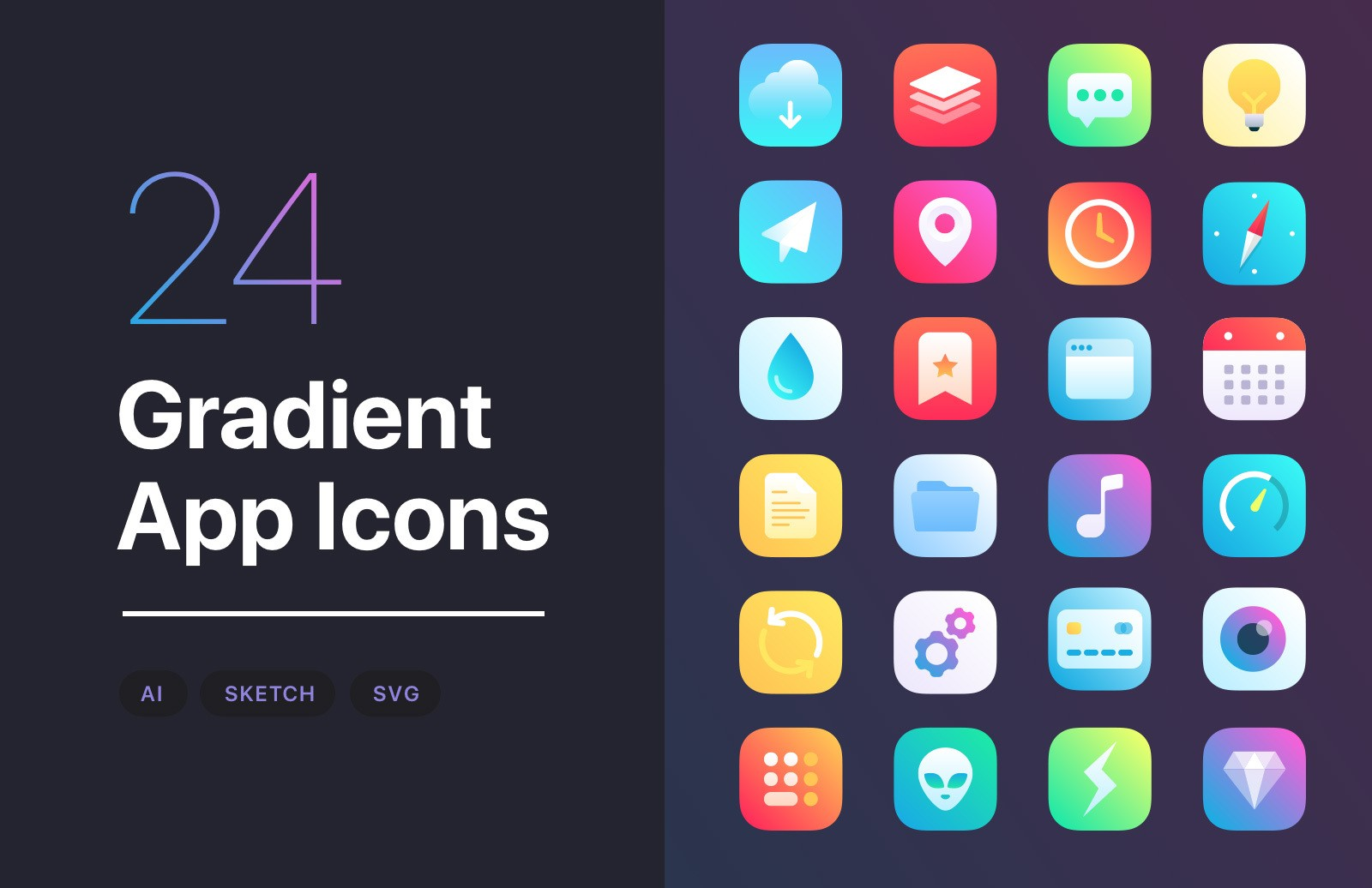 Gradient App Icons Preview