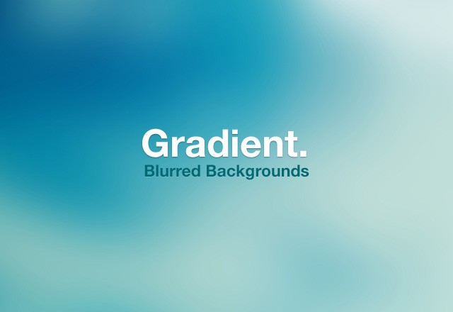 Gradient Blurred Backgrounds