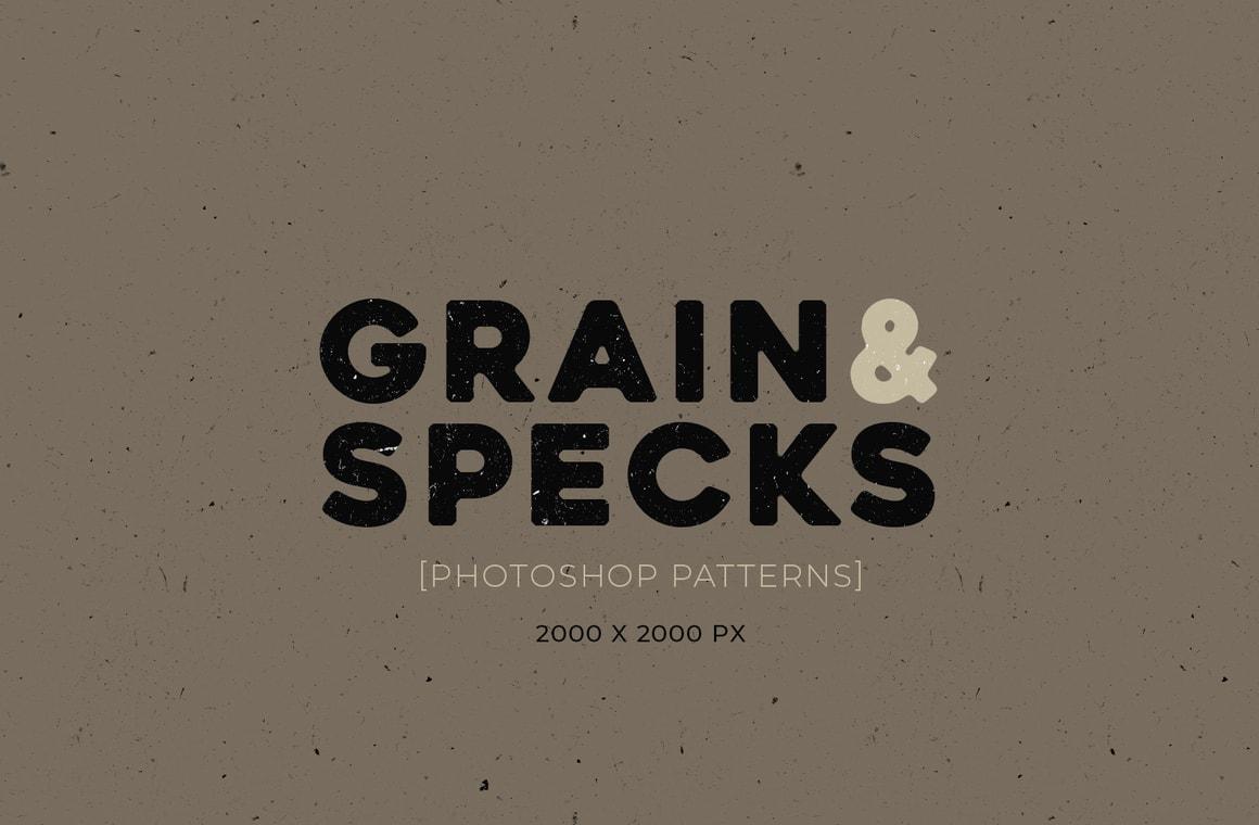 Grain & Specks Photoshop Patterns