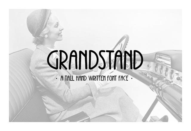 Grandstand - Tall Handwritten Font