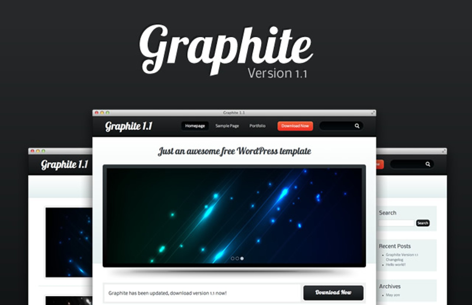 Graphite Wordpress Template 11 Medialoot