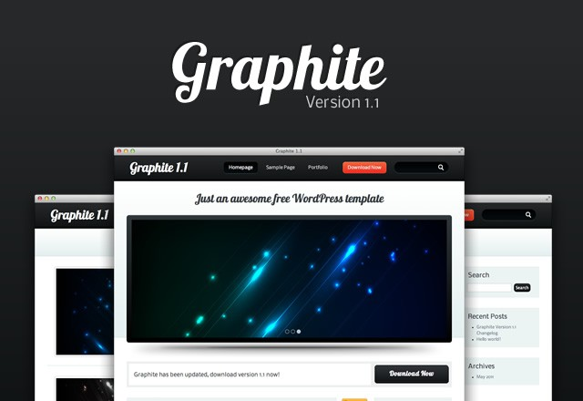 Graphite Wordpress Template 1.1