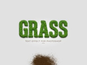 Grass Text Effect for Photoshop 1