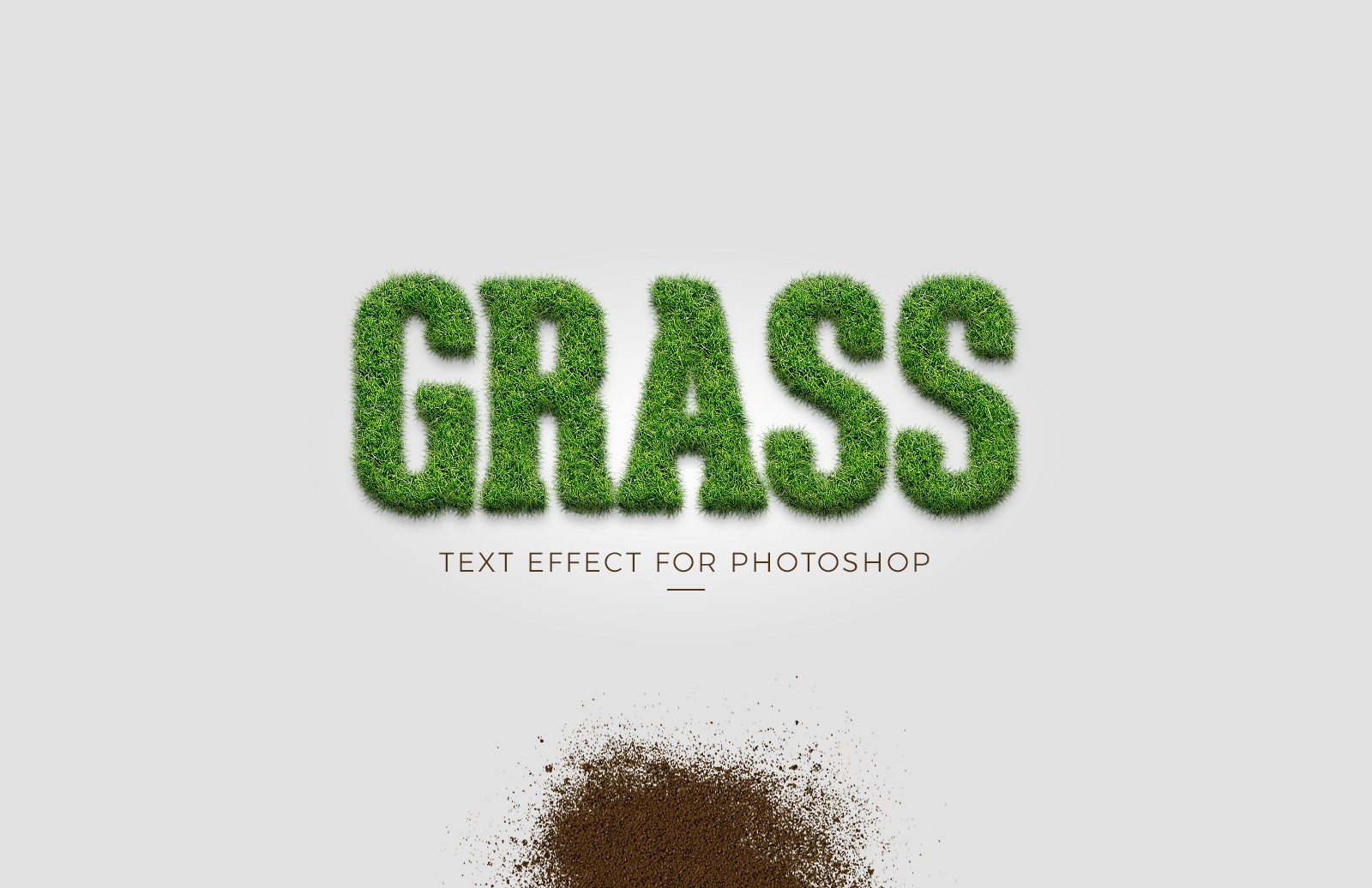 Grass Text Effect for Photoshop
