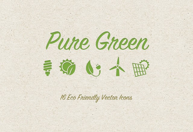 Green Eco Friendly Icons