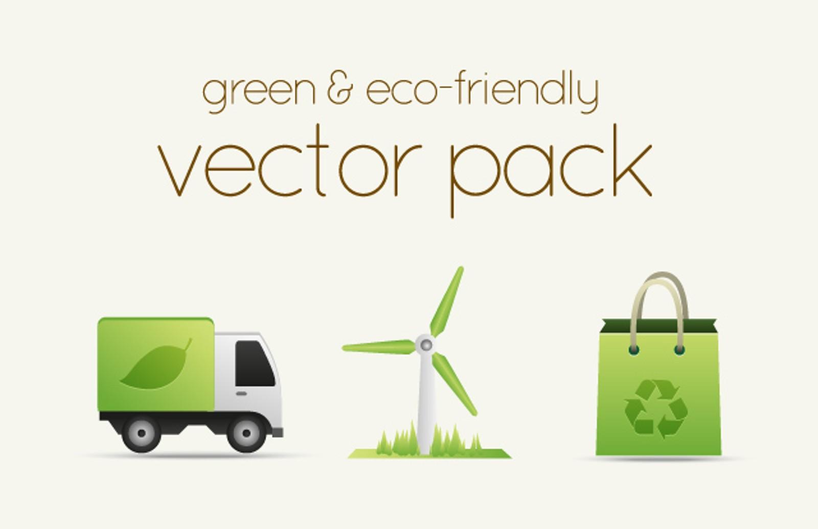Green   Eco Friendly  Vectors 1