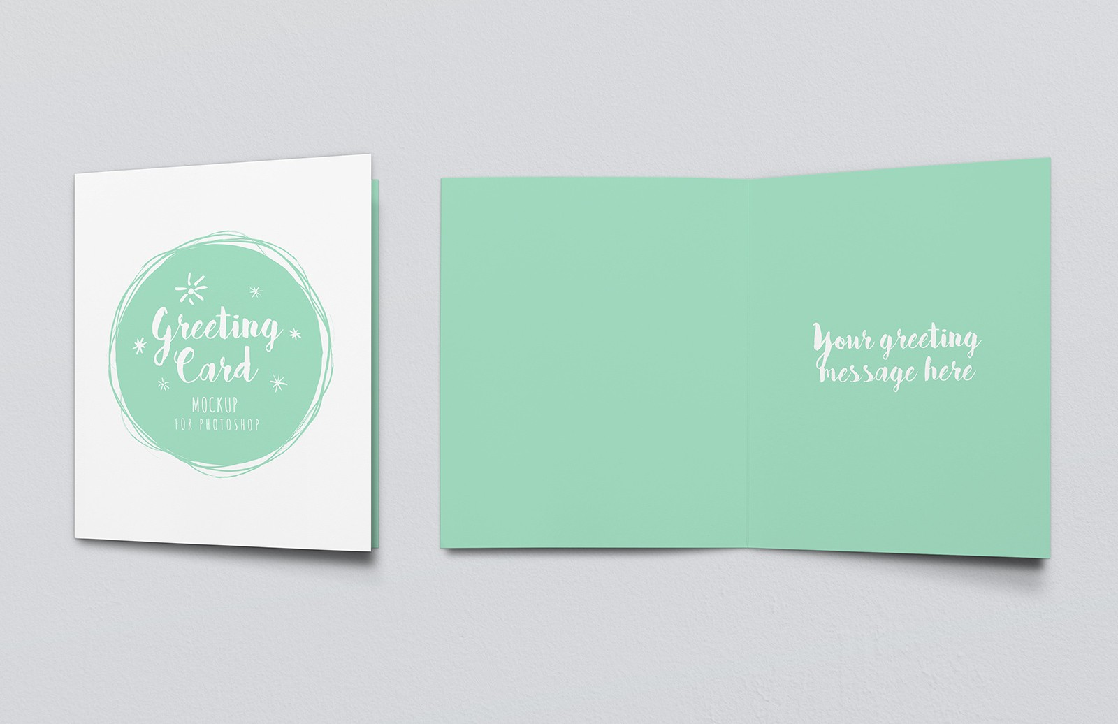 Greeting Card Mockup - Vol 2