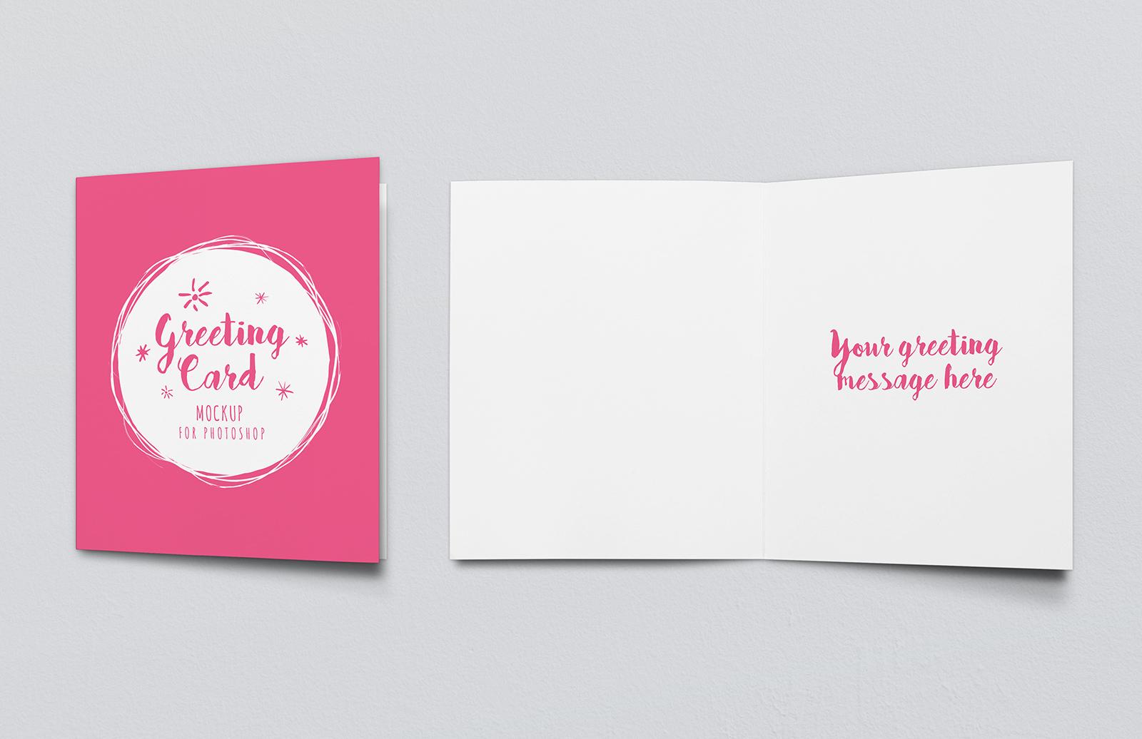 Greeting Card Mockup - Vol 2