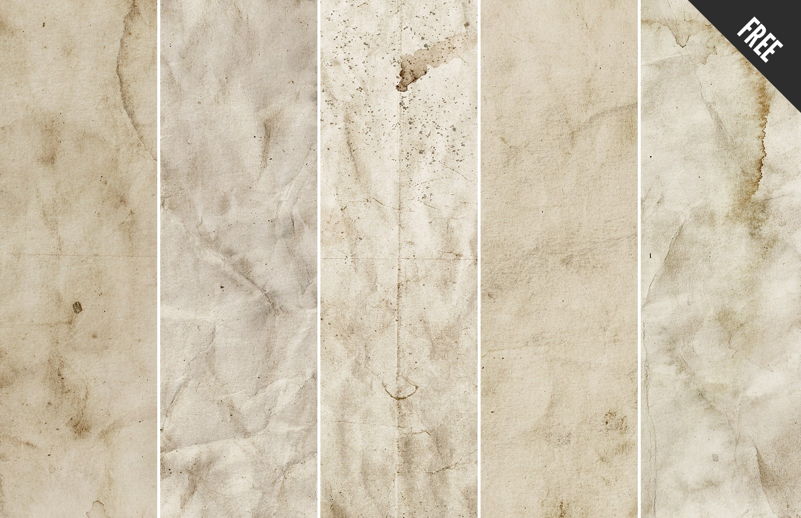 Grunge  Stained  Paper  Textures  Preview 3