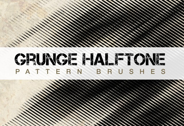 Grunge Halftone Pattern Brushes