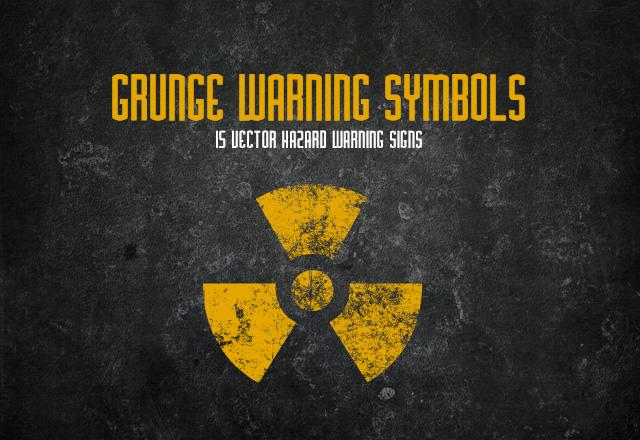 Grunge Warning Symbols