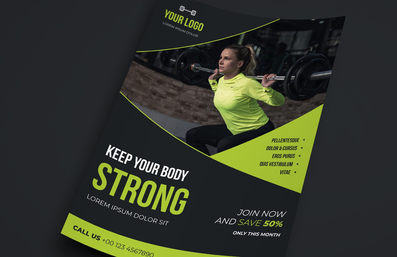 Gym Health Fitness Flyer Template Preview 1A