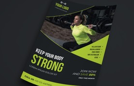 Gym Health & Fitness Flyer Template