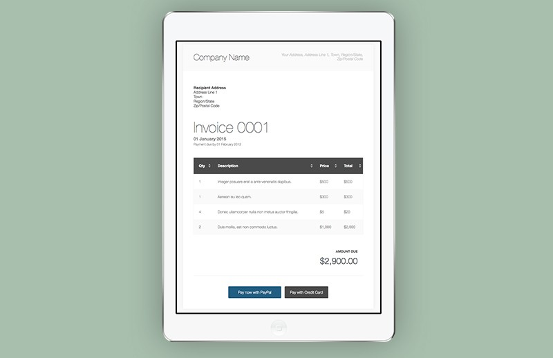 html invoice template | medialoot, Invoice templates