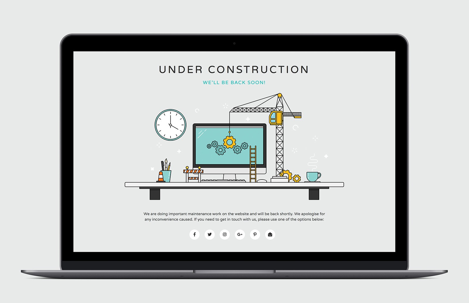 Html Under Construction Page Preview 1