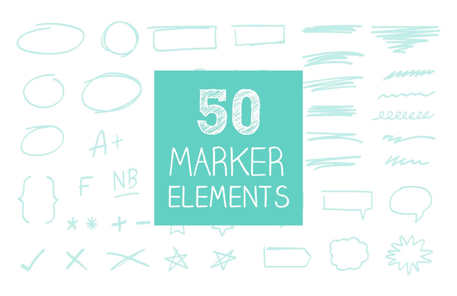 Hand Drawn Marker Elements 1