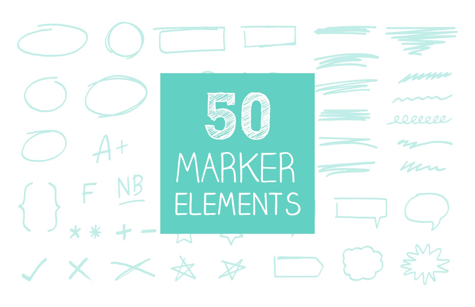 Hand  Drawn  Marker  Elements  Preview 1